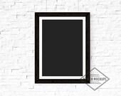 White Frame Poster MockUp, Poster Mockup, Product Mockup, White Brick, Thick White Vertical Frame Mockup, Teal Blue Styled Photography