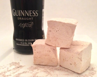 Guinness Marshmallows with Chocolate Dusting - Gift for Him, Father's Day Gift, Beer