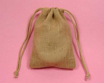 "12 5""x6"" Burlap Bags with Drawstring"