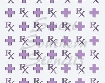 RX and First Aid Stencil