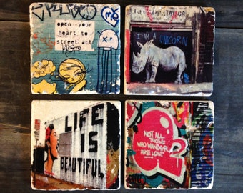 Street Art Coaster or Decor Accent