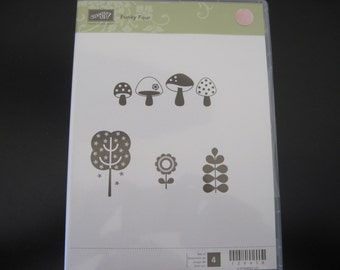 Stampin Up Stamp Set Funky Four. 2010. Rubbercling.