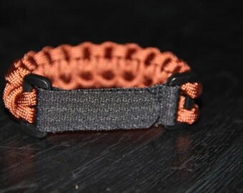 Paracord Survival Bracelet with Velcro - Rust