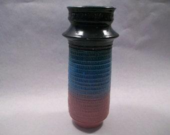 Multi Colored Textured Vase