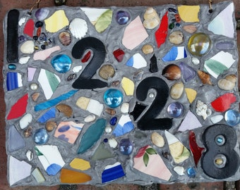 Mixed Media Mosaic Address/Name Plaques