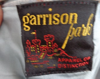 Garrison Park Jacket in blues, brown and off white