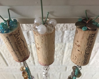 Completely Customizable Embellished Wine Cork Ornament