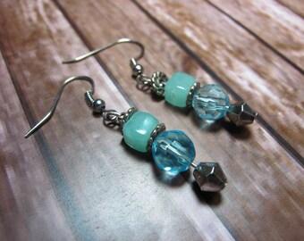 Beaded Crystal Dangle Earrings
