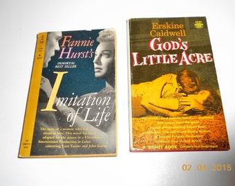 "Vintage 1959 Lana Turner-John Gavin ""Imitation of Life"" Movie Edition Book & 1958 Robert Ryan-Tina Louise ""God's Little Acre"" Movie Editon"
