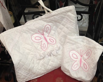 654 Butterfly Tote Set for Ladopana & Oil Set Doubles as Diaper Bag