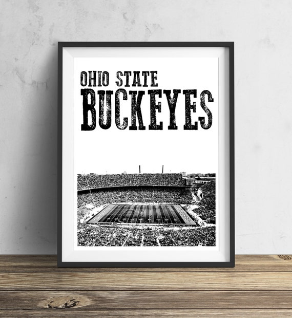 Items similar to Ohio State Buckeyes Football Stadium Art ...