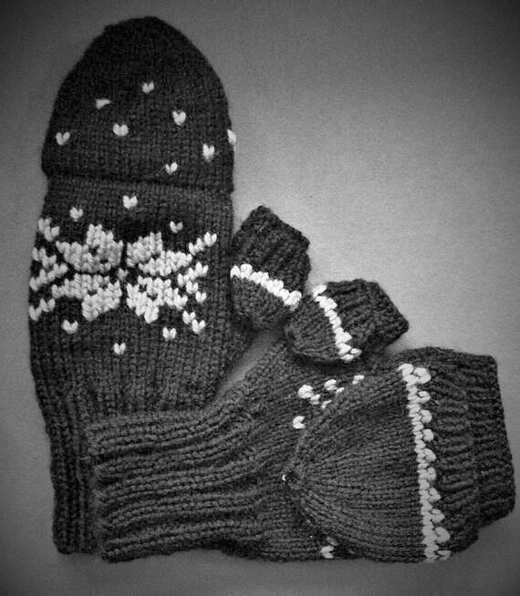 Finger Knitting Urban Dictionary : Urban convertable fingerless mittens knitting pattern from