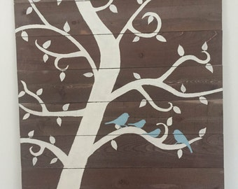 Rustic Painting of Tree