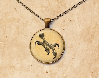 Eagle necklace Bird pendant Vintage jewelry