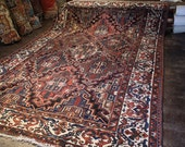 Antique Persian Rug -  Bakhtiari - 9x13 - 1930s - Area Rug