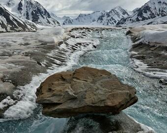 Glacier Stream - Float Metal or Framed Print