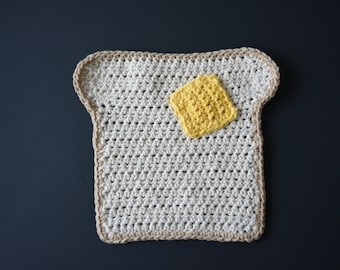 PATTERN Crochet Toast Dishcloth - Digital download