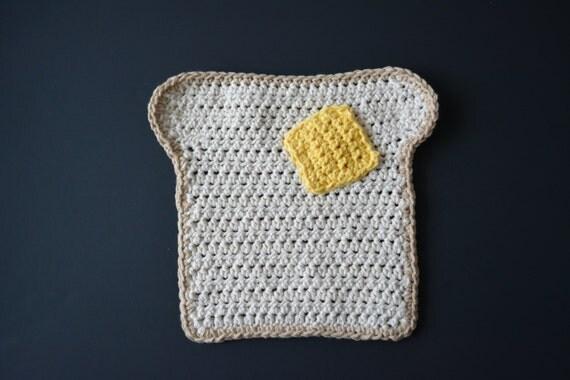 PATTERN Crochet Toast Dishcloth - Digital download
