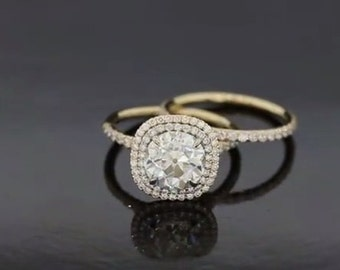 Magnificent Double Halo Engagement Ring