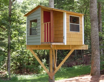 Treehouse plans with full diy instructions by treehouseguides for Tree house blueprint maker