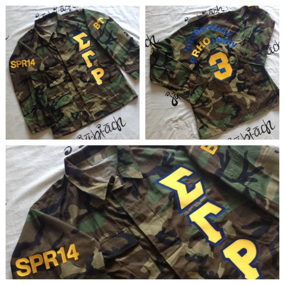 prophyte greek letter camo jackets With camo sorority letters