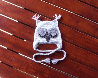 CROCHET OWL HAT - great baby gift - photo prop!