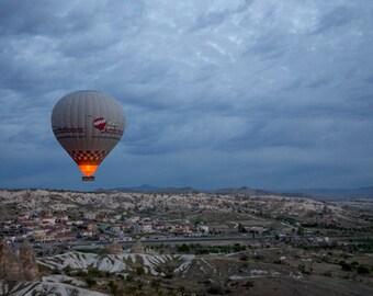 HOT AIR BALOON, Cappadocia photo, travel photography,  wall art, instant photography