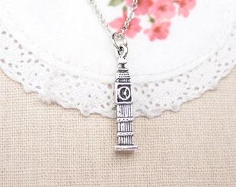 Big Ben necklace, Big Ben 3Dcharm, Big Ben Clock Tower, tiny Big Ben charm, London landmark, travel to England. souvenir from Europe, friend
