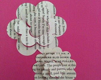 50 Book Page Die Cuts for Rolled Roses book folding decor scrapbooking