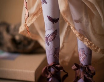 Violet moth bjd stockings  MSD / SD / Blythe / tiny