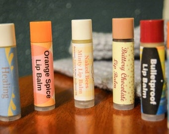 All Natural Healing Lip Balms made with essential oils-Choose One