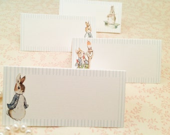 Peter Rabbit Place Cards-Baby Shower It's a Boy-set of 12