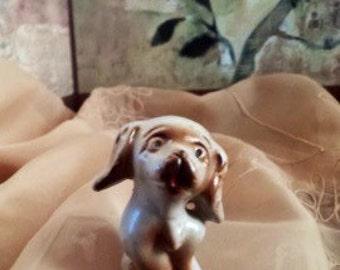 Vintage Ceramic Dog - Stamped JAPAN and 94