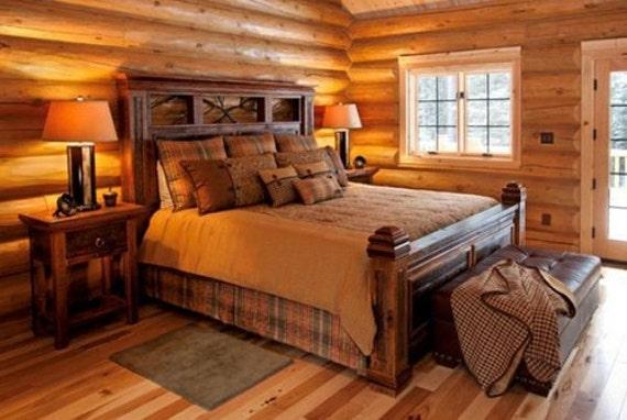amish rustic log furniture  hunting season ready
