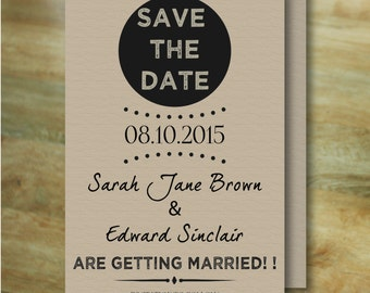 SAVE THE DATE - Postcards & Envelopes