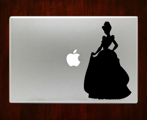 Princesse cendrillon m525 design autocollant sticker par - Ordinateur princesse ...