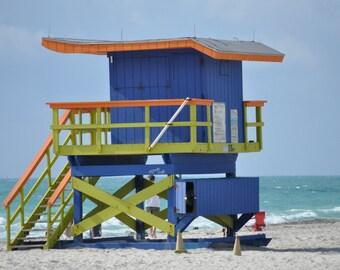 Lifeguard tower photo, Miami Beach,
