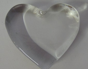 "Price reduced Crystal Heart 4"" X 4"""