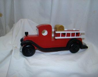 Wood fire truck