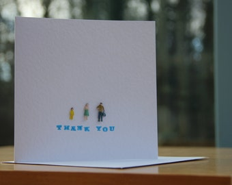 Handmade Tiny People Thank You Card