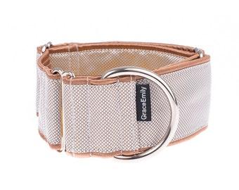 Brown martingale collar, martingale dog collar, greyhound collar, 2 inch, dog collar, martingale  collar,collars,martingale collars, rbown