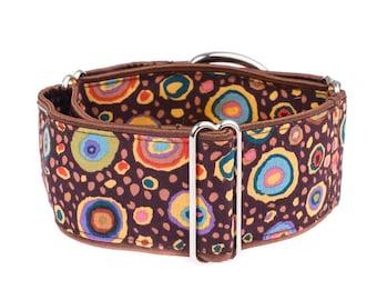 Brown greyhound collar, martingale dog collar, 2 inch, dog collar,brown,martingale collars,martingale