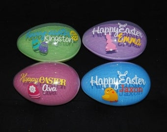 Personalized Plastic Fillable Easter Egg- Great addition to any Easter Basket