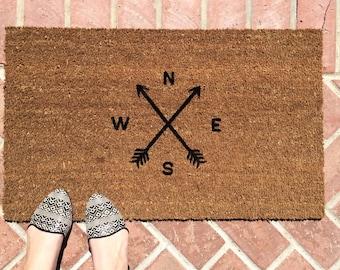 Arrow Doormat / Arrow Decor / Cute Doormat / Funny Welcome Mat / Custom Doormat / Outdoor Monogram Doormat / Personalized Gift / Unique Gift