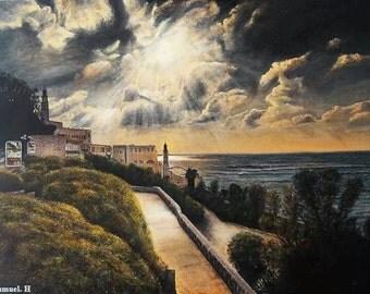 Jaffa view original oil painting