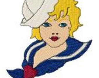 Sailor Girl Embroidery Design File