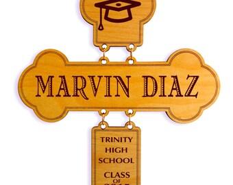 Custom Graduation Cross , Personalized Gift for Graduation, Congratulation Gift , College Graduation Gift, Christian Graduation Gift.