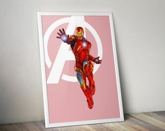 Iron Man, Avengers, Digital illustration - Instant Download Digital File