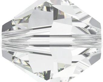 Swarovski Crystal Bicone Beads 5328 - 2.5mm 3mm 4mm 5mm 6mm 8mm 10mm - Clear