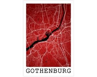 Gothenburg Street Map, Gothenburg Sweden, Modern Art Print, Gothenburg Map, Gothenburg Art, Gothenburg Decor, Gothenburg Poster, Man Cave